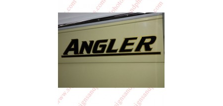 Angler Boat Logo Decals