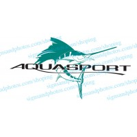 "Aquasport Boat Logo Decals 36""x19"""