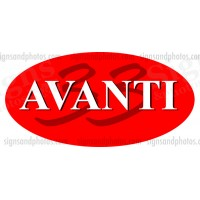 AVANTI 33 Hulls side Logo Decal Set