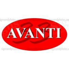 AVANTI 33 Hulls side Logo Decal Set