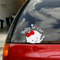 "Baby in Car Decal 5.5"" x 7"""