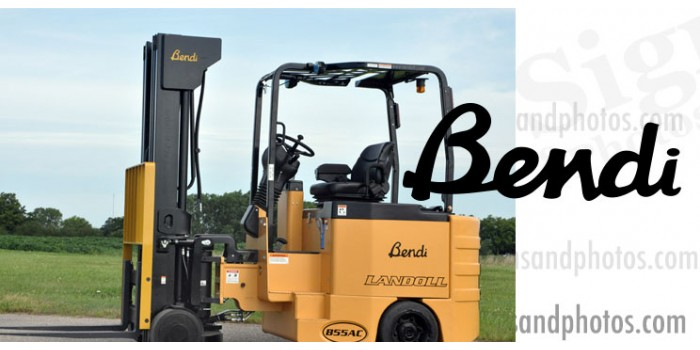 "Bendi forklift Decal 12""x4.25"""