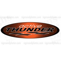 Thunder Hulls side Logo Decal Set
