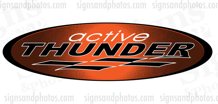 Thunder Hulls side Logo Decal Set