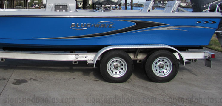 Blue Wave boat Graphics