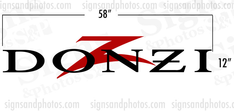 "DONZI Hulls side Logo Decal  12"" H x 58"" W"