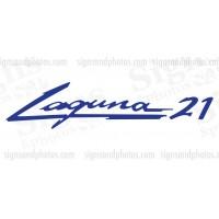 Laguna 21 boat decal