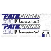 Pathfinder Boat Logo Decals