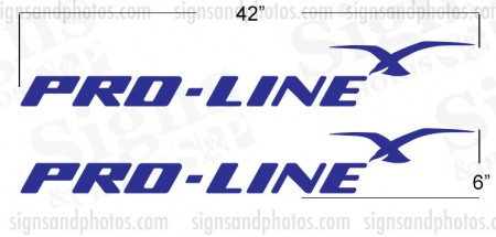 Pro Line Boat Name Decals (Royal blue)