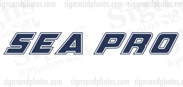 Sea Pro Boat Decals