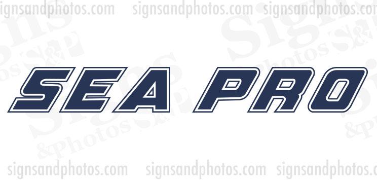 Sea Pro Boat Decals
