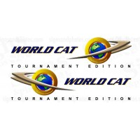 World Cat Logo Decals Tournament Edition