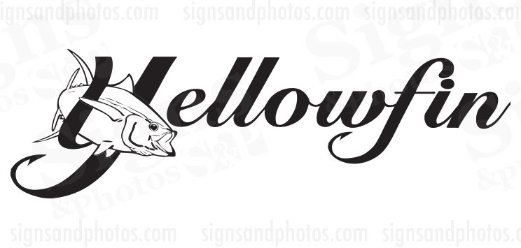 Yellowfin Boat Decals