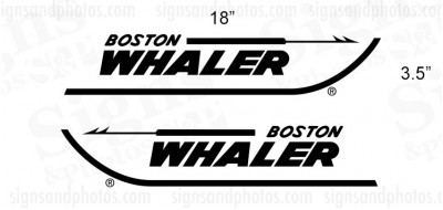 Boston Whaler Boat  Decals
