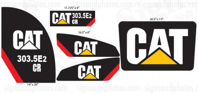 CAT 303.5E2 CR  Decals kit