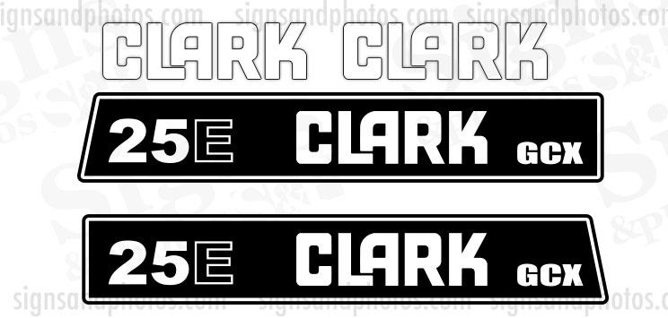Clark 25E GCX  forklift Decal kit