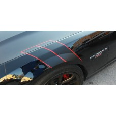 Camaro Hash Mark  Matte Black and Red
