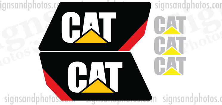 Caterpillar Decal Kits : Caterpillar vinyl decal forklift kit