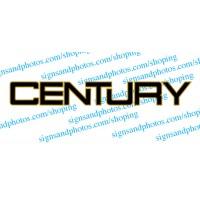 "Century Boat Logo  2 colors 23""x3"""