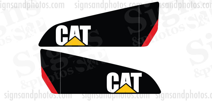 Caterpillar Vinyl Decal Forklift C5000