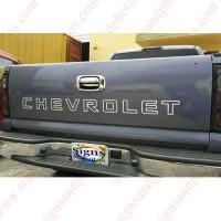 Chevrolet Tailgate Letter Decal Sticker for Trucks