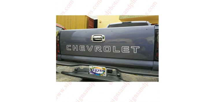 Chevrolet Tailgate Letter Decal Sticker for Trucks