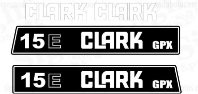 Clark 15E GPX  forklift Decal kit