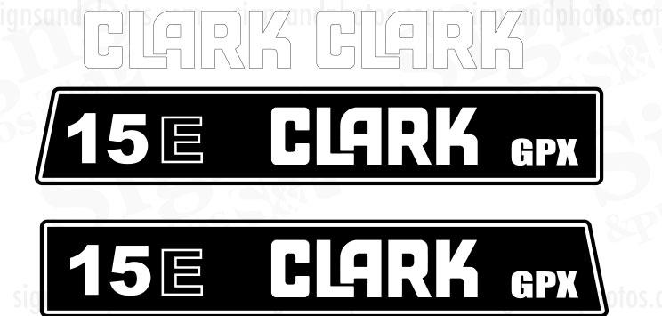 Clark 15E GPX  forklift Decal kit