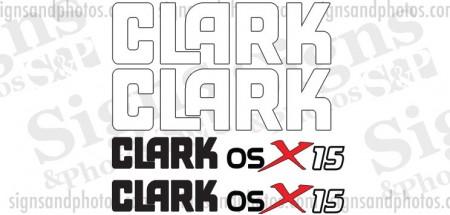 Clark osX 15  forklift Decal kit