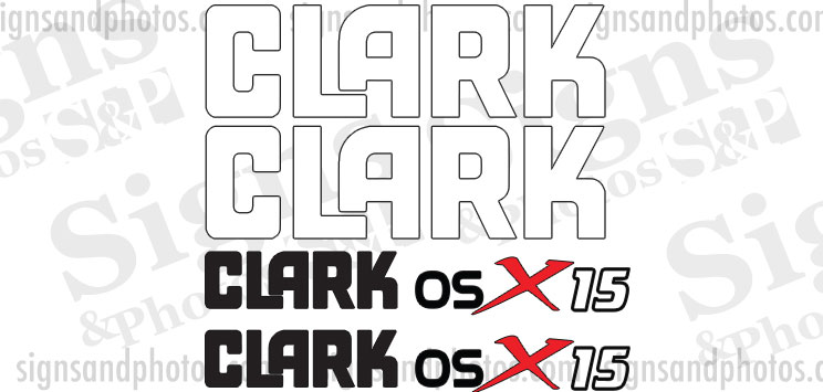 Clark osX 15  forklift Decal kit