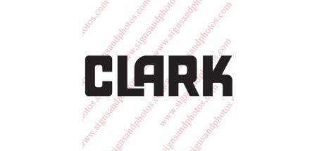 """Clark forklift Decal 16""""x3"""""""