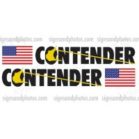 Contender Black and Yellow Decal w/Flag