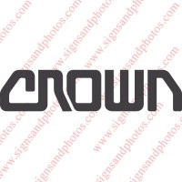 "Crown forklift Decal 11""x2.5"""