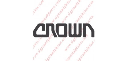 "Crown forklift Decal 7""x2"""