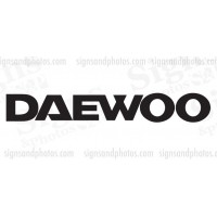 "DAEWOO Forklift  Decals 16"" x 2.5"""