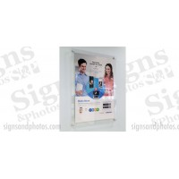 "Displays Graphic Acrylic Vertical/Horizontal Standoff Sign Holder 17""x22"""