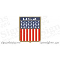 DONZI Hull side Decal Logo - 1960s/70s USA Flag, 6 3/4""