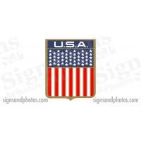 "DONZI Hull side Decal Logo - 1960s/70s USA Flag, 6 3/4"""