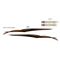 DONZI Boat Logo Graphic Decals