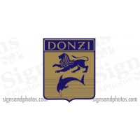 DONZI Hull side Decal Logo - 1960s/70s Lion/Dolphin Flag 6 3/4""