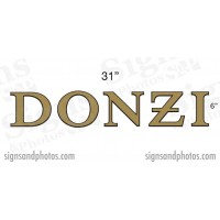 "DONZI Hulls side Logo Decal  6"" H"