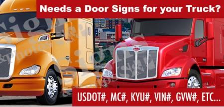 Door Signs for Truck (Custom)