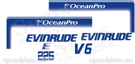 Evinrude 225HP  Decal Kit