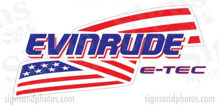 Evinrude Flag Decal Kit