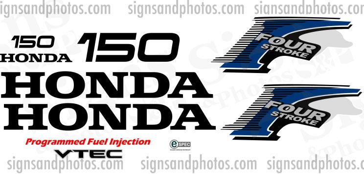 Honda 150HP  Decal Kit