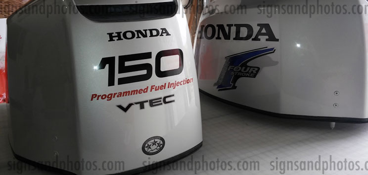 Outboard Engine Graphics Kit Sticker Decal for Honda 150 hp Yellow