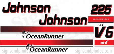 Johnson 225HP Red Decal Kit