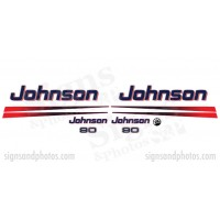 Johnson 90HP Red Decal Kit