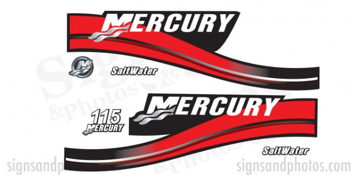 Mercury 115 Red Decal Kit