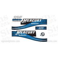 Mercury 225 Blue Decal Kit